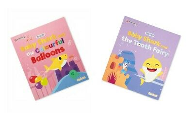 £2.99 • Buy 2 X BABY SHARK CHILDRENS STORY BOOKS, TOOTH FAIRY + THE COLOURFUL BALLOONS BOOKS