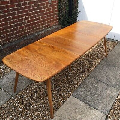 Vintage Ercol Grand Windsor Extending Dining Table *Delivery Available* • 1,100£