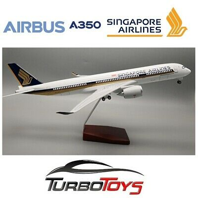 AU149.95 • Buy New- Airbus A350 Singapore Airlines 1/142 Large 47cm Resin Led Model With Stand
