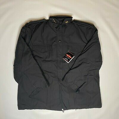 $55 • Buy Tru-Spec M-65 Black Tactical Field Jacket With Removable Liner Men's 2XL  NWT