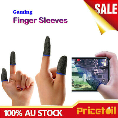 AU9.38 • Buy 2/4 Pcs Mobile Finger Sleeve Touch Screen Game Controller Sweat-proof Gloves