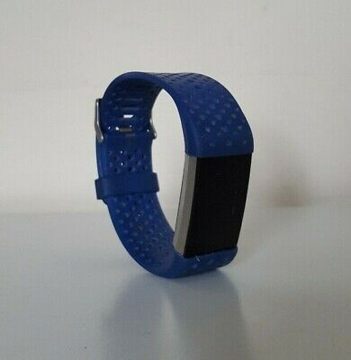 AU64.50 • Buy Fitbit Charge 2 Heart Rate Fitness Activity Tracker Blue Band Large *NO CHARGER*