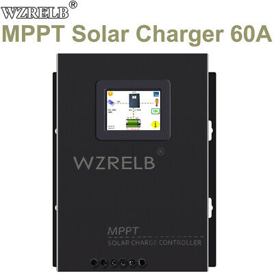 $ CDN257.32 • Buy WZRELB MPPT Solar Controller 60A Battery Charger 12/24/36/48V LCD Home 170V Max