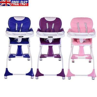 Foldable Baby Kids Highchair Infant High Feeding Seat Toddler Table Chair Travel • 39.99£