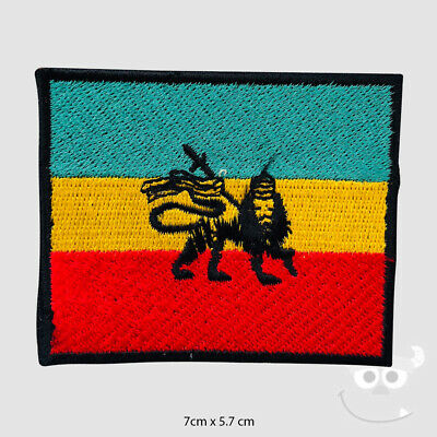 Rasta Flag Lion Patch Embroidered Iron On Sew On Patch Badge For Clothes Etc • 1.99£