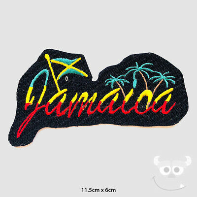 Jamaica Rasta Patch Embroidered Iron On Sew On Patch Badge For Clothes Etc • 1.99£