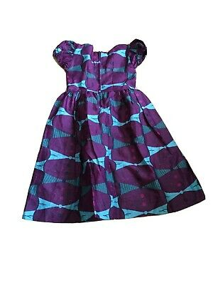 African Print Girls Summer Dress - Size 6/7 BNWOT • 12.49£