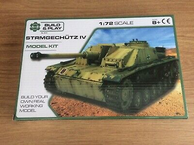 Build And Play Strmgechutz IV German Tank Model Kit  1:72 Scale Age 8+ • 7.99£