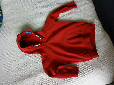NEXT Cosy Red Hoodie With Dinosaur Detail - Size 3-4 Years (104 Cm) • 1.60£