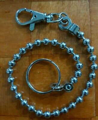 £3 • Buy Long Hook Metal Key Ring Chain Rings Hipster Belt Clip 34cms Approx. Beautifull