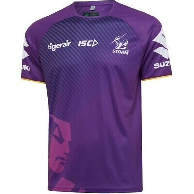 £37.07 • Buy Melbourne Storm NRL 2020 Players ISC Purple Training Shirt Sizes S-5XL!