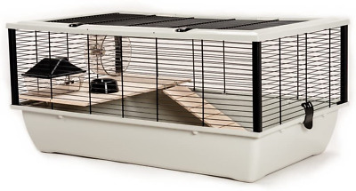 Little Friends Grosvenor Rat And Hamster Cage With Wooden Shelf And Ladder, 77 X • 56.42£