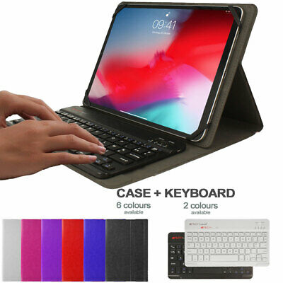 Universal Leather Case & BT KEYBOARD For Samsung Galaxy Tab A7 10.4  T500 / T505 • 16.95£