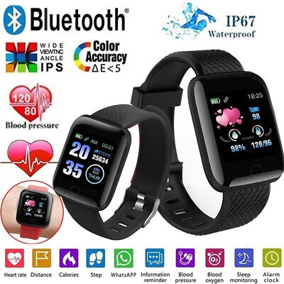 AU16.53 • Buy Smart Watch Bluetooth Heart Rate Blood Pressure IP67 Waterproof For Android IOS