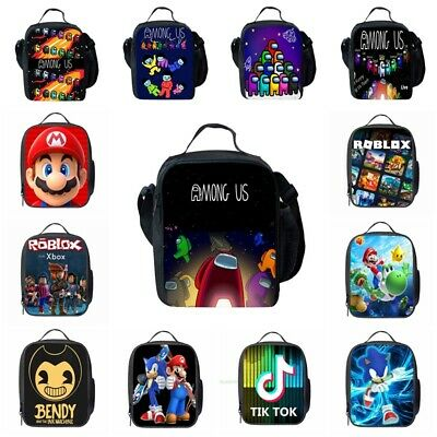 Kids Super Mario Insulated Lunch Bag School Snack Box Travel Hand Bag Lunchbox • 8.79£