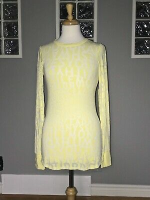 $ CDN61.20 • Buy Lululemon Daily Practice Long Sleeve 6 Yellow Exploded Manifesto Burnout