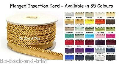 7020 Silky 6mm Flanged Rope Piping Upholstery Insertion Cord - 2m • 4.50£