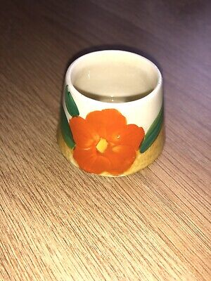 Hand Painted Bizarre Clarice Cliff Newport Pottery England Conical Mustard Pot • 39.99£
