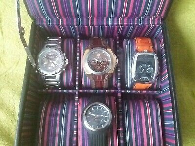 Collection Of Breil Watches In Padded Case Rare Models • 185£