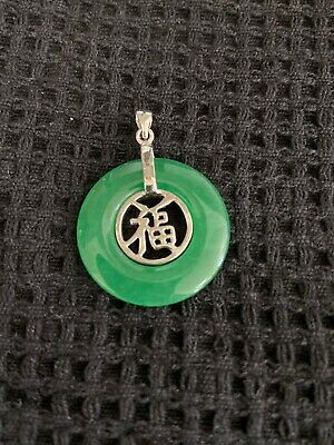 AU30 • Buy Jade And 18 Carat White Gold Plated Pendant Brand New Unwanted Gift