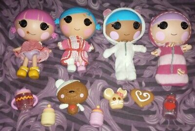 Lalaloopsy 4 Little Sister Dolls With Accessories • 15£