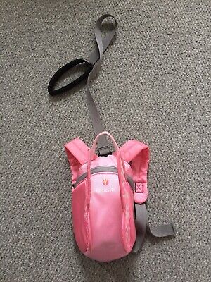 LittleLife Toddler Pink Butterfly Back Pack Reins Safety Harness Excellent Con • 8.99£