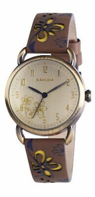£6.99 • Buy Kahuna Women's Quartz Watch With Gold Dial Analogue Display And Brown KLS-0248L