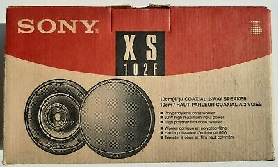 Sony XS-102 F Car Stereo 10cm (4  Inch) 60 Watts 2 Way Coaxial Speakers # NEW • 22£