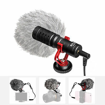 BOYA BY-MM1 Mini Cardioid Microphone Condenser Video Mic For DSLR Cameras L4J1 • 19.88£