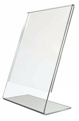 4x A6 COUNTER POSTER MENU HOLDER ACRYLIC PORTRAIT RETAIL SHOP DISPLAY STAND • 5.55£