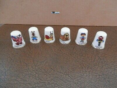 The Magic Roundabout - Complete Set Of Character Thimbles (x6) • 9.90£
