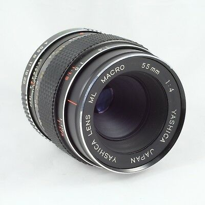 Rare Early YASHICA ML Macro 55mm 1:4 Lens CONTAX RTS Mount 1:2 Reproduction • 280£