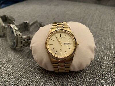 Citizen Vintage Gold Plated Quartz Watch Day Date Jubilee Strap • 85£