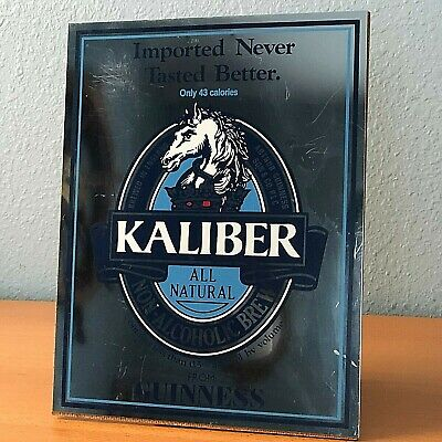 £7.18 • Buy VINTAGE IMPORTED KALIBER BEER MIRROR  ALL NATURAL GUINNESS 11  X 8.5