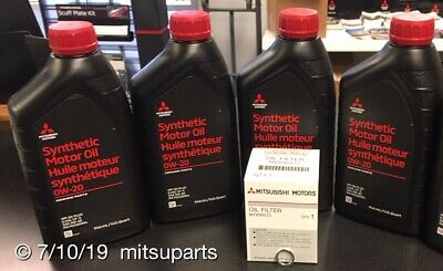 $ CDN37.60 • Buy 4 Quarts Genuine Mitsubishi 0W-20 SYNTHETIC OIL Change KIT With FILTER