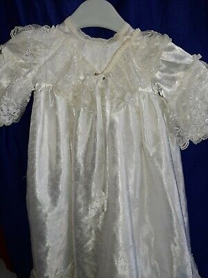 Vintage Snow White Christening Gown Baby Dress 3-6 Months  • 9£
