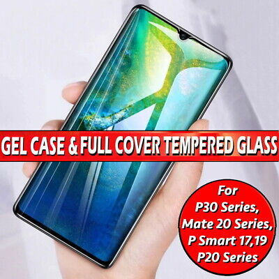 Gel Case For Huawei Mate P20 P30 Pro Lite P Smart Gorilla Glass Screen Protector • 2.99£