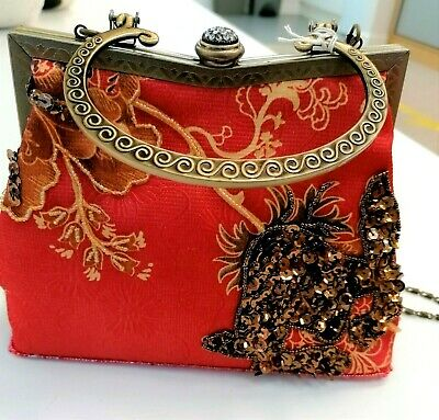 £9.99 • Buy Leko London - Beautiful Beaded Vintage Style Bag Excellent Condition