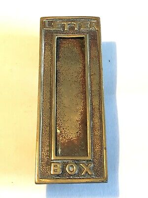 Vintage Brass Vertical Letter Box • 30£