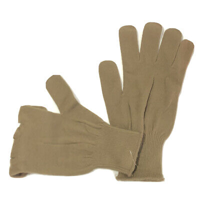 $9.95 • Buy Us Military Gloves Men's M / L Womens Glove Light Duty Liners Brown Knit Gloves