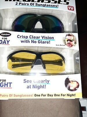 AU35.43 • Buy New Bell + Howell Tac Glasses 2 Pairs ( Day & Night) *as Seen On Tv* Value Pack