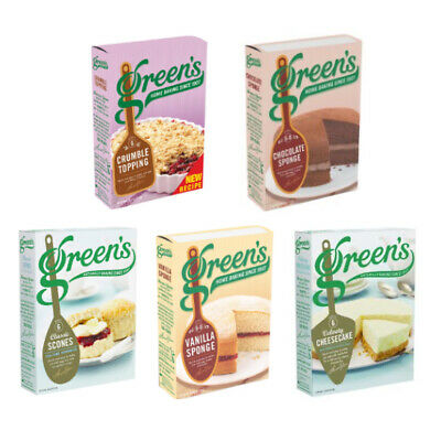£6.99 • Buy Green's Assorted Sponge Cheese Cake Crumble Home Baking Mixes (Pack Of 2)