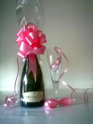 £4.50 • Buy Clear Cellophane Wine Bottle Bags & Bows, Gift Bags, Ideal For Packing Xmas Gift
