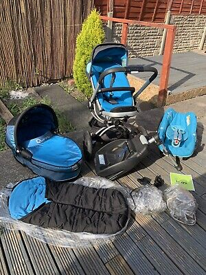 £195 • Buy Quinny Buzz 3in1 Complete Travel System In Sky Blue