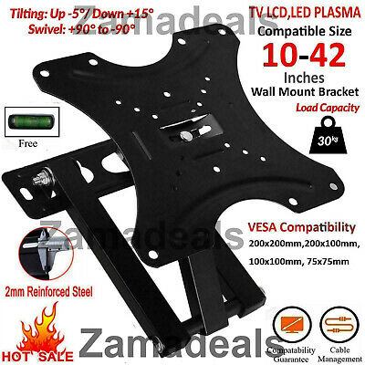 Slim TV Wall Bracket Mount Fixed For 32 40 42 50 55 60 65 70 Inch Plasma LED LCD • 13.99£