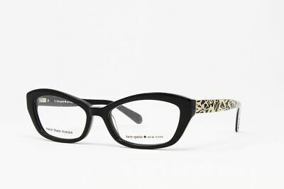AU84.12 • Buy New! Kate Spade Cat Eye Women's Eyeglasses Cristi 0W08 Black/Print Size 50mm
