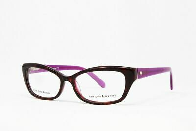 AU84.12 • Buy New! Kate Spade Cat Eye Women's Eyeglasses Catalina 0FN3 Havana Purple Sz 51mm