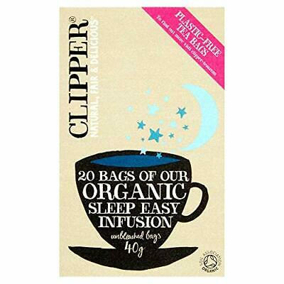 Clipper Organic Sleep Easy Infusion 20 Teabags (Pack Of 6, Total 120 Teabags) • 9.99£