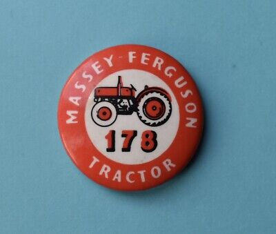 Vintage Massey Ferguson 178 Tractor Tin Pin Badge Farming Rare • 9.99£