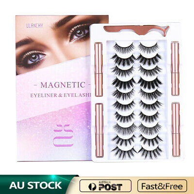 AU10 • Buy Ulanchy Magnetic False Eye Lashes Natural Extension Liquid Eyeliner Replacement